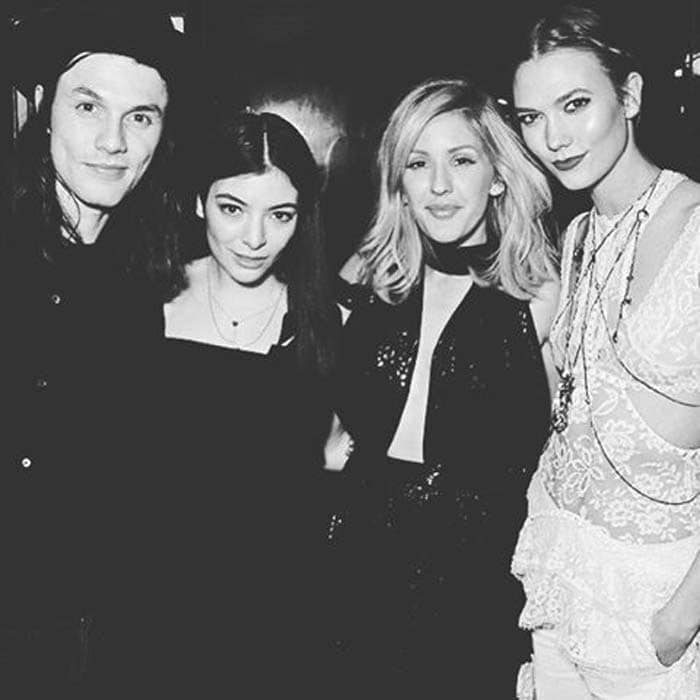 Ellie Goulding hangs out with Lorde, Karlie Kloss and James Bay at the 2016 BRIT Awards Post Party