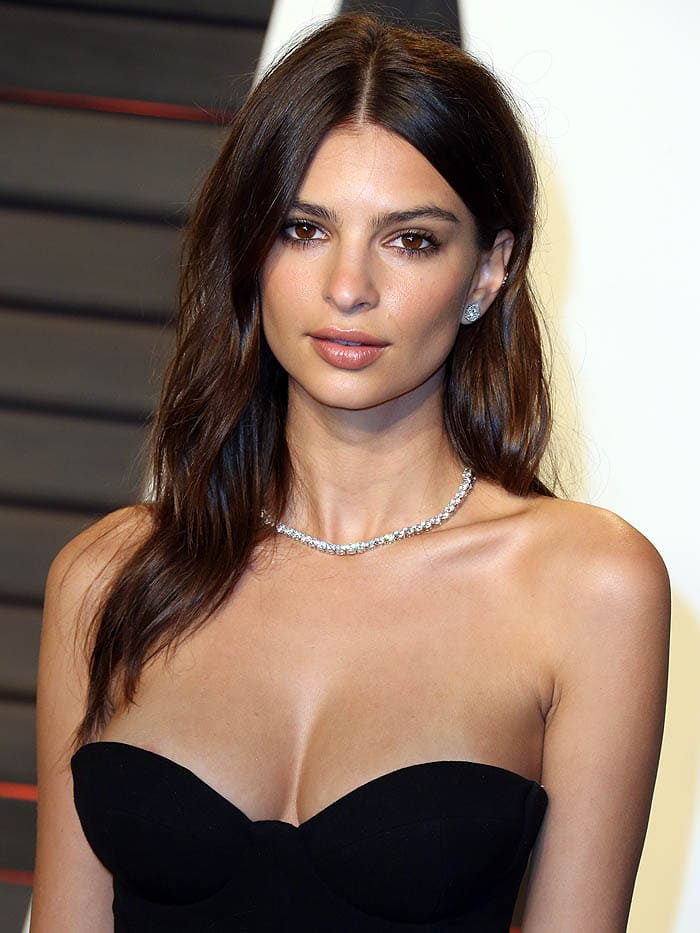 Emily Ratajkowski Vanity Fair Oscar Party 2