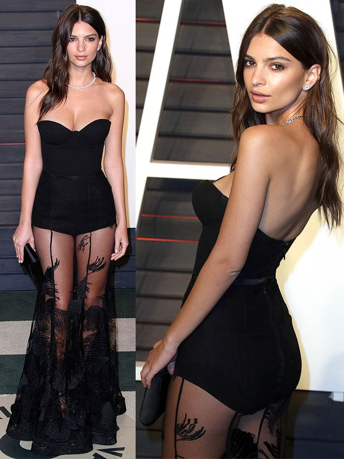 Emily Ratajkowski Vanity Fair Oscar Party