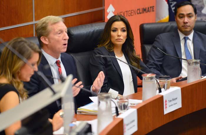 Eva Longoria participates in a NextGen Climate panel