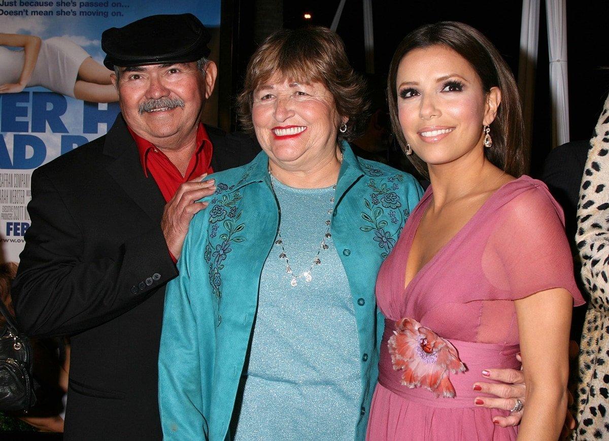 Eva Longoria and her Mexican-American (Tejano) parents Ella Eva (Mireles) and Enrique Longoria Jr.