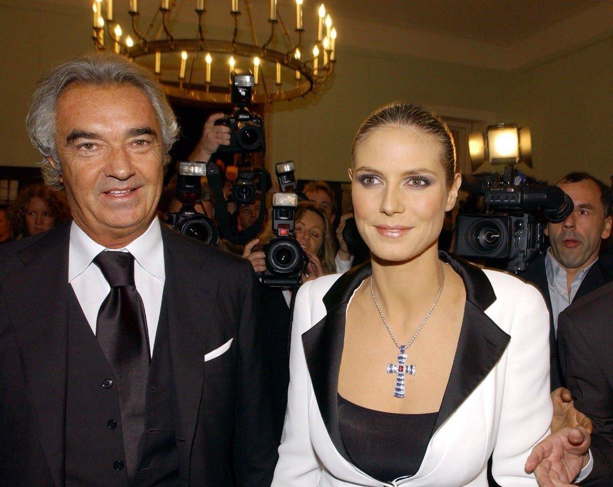 Heidi Klum with her ex Flavio Briatore, the biological father of Leni Klum