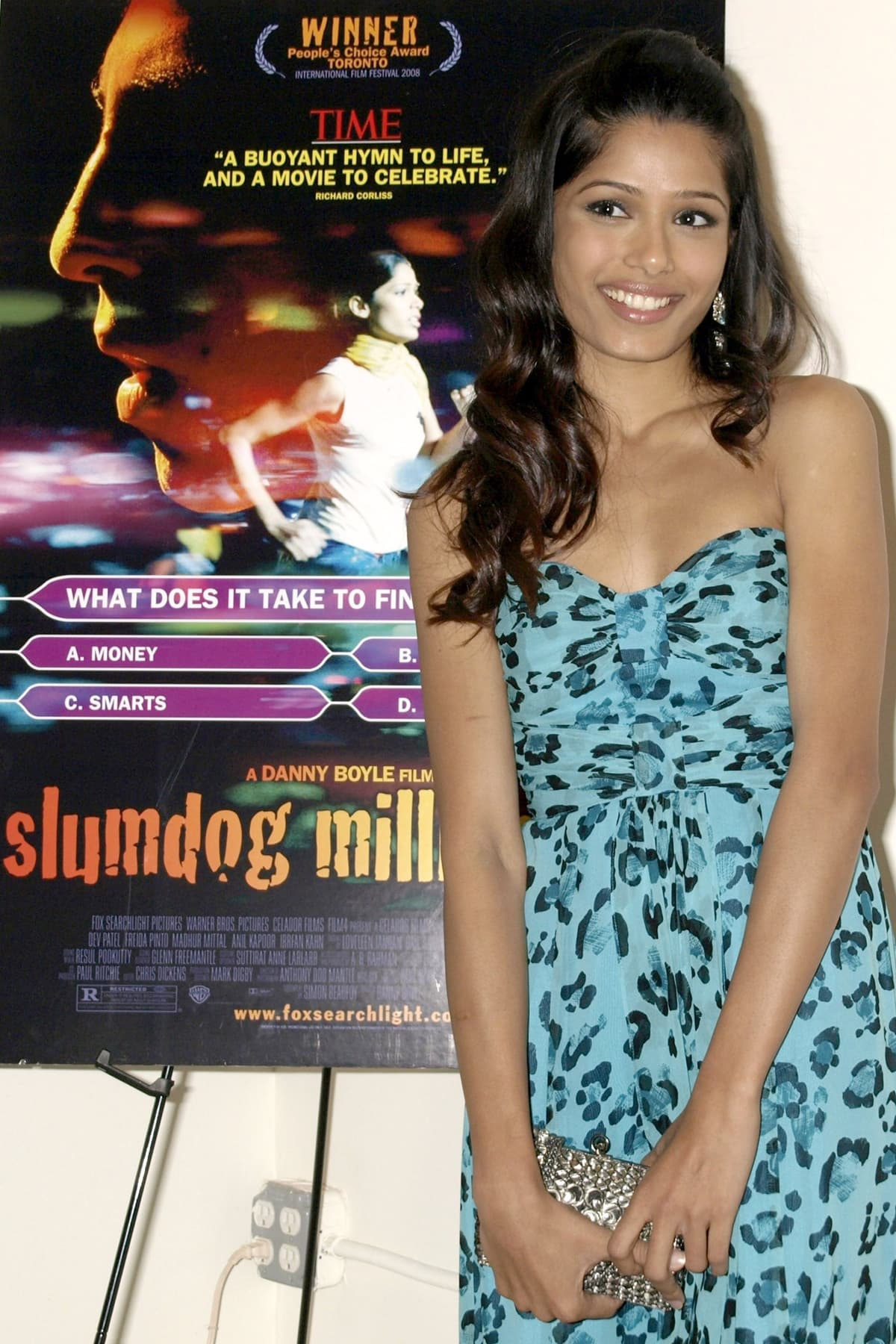 "Actress Freida Pinto was 24 years old when attending a screening of ""Slumdog Millionaire"""