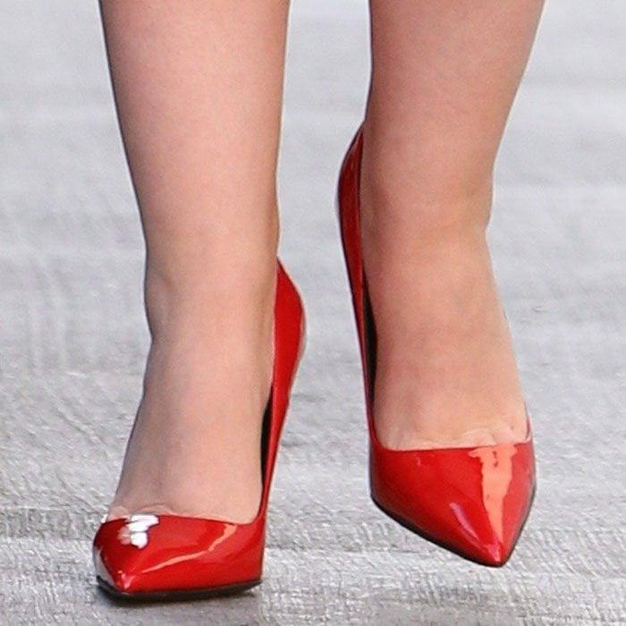 Ginnifer Goodwin shows off her feet in red stiletto heels