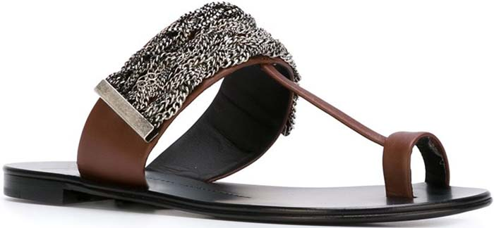 Giuseppe Zanotti Chain Trim Sandals