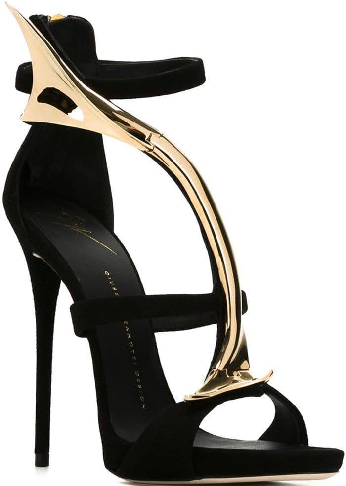 Giuseppe Zanotti 120mm Bar Detail Suede Sandals