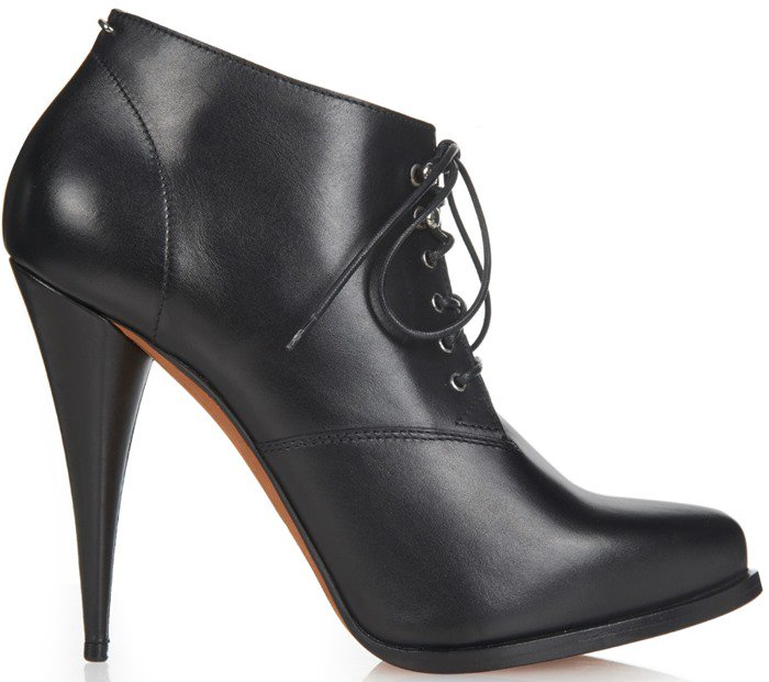 Givenchy  Perla lace-up leather ankle boots