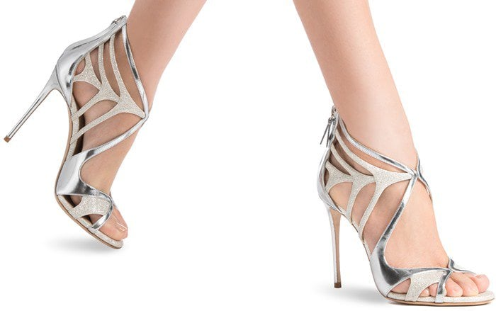 Glitter and Mirrored-Leather Casadei Shoes