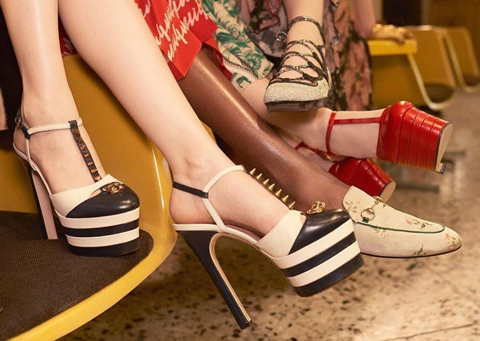955a110d03c Gucci's Celebrated Spring Collection: Towering 'Angel' Pumps