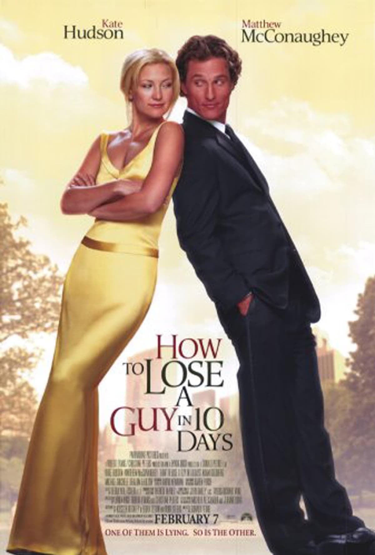 Kate Hudson starred with Matthew McConaughey in the 2003 romantic comedy How to Lose a Guy in 10 Days