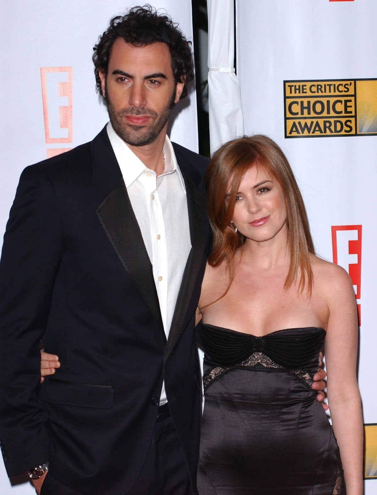 Sacha Baron Cohen got engaged to his much shorter girlfriend Isla Fisher in 2004 and married on 15 March 2010