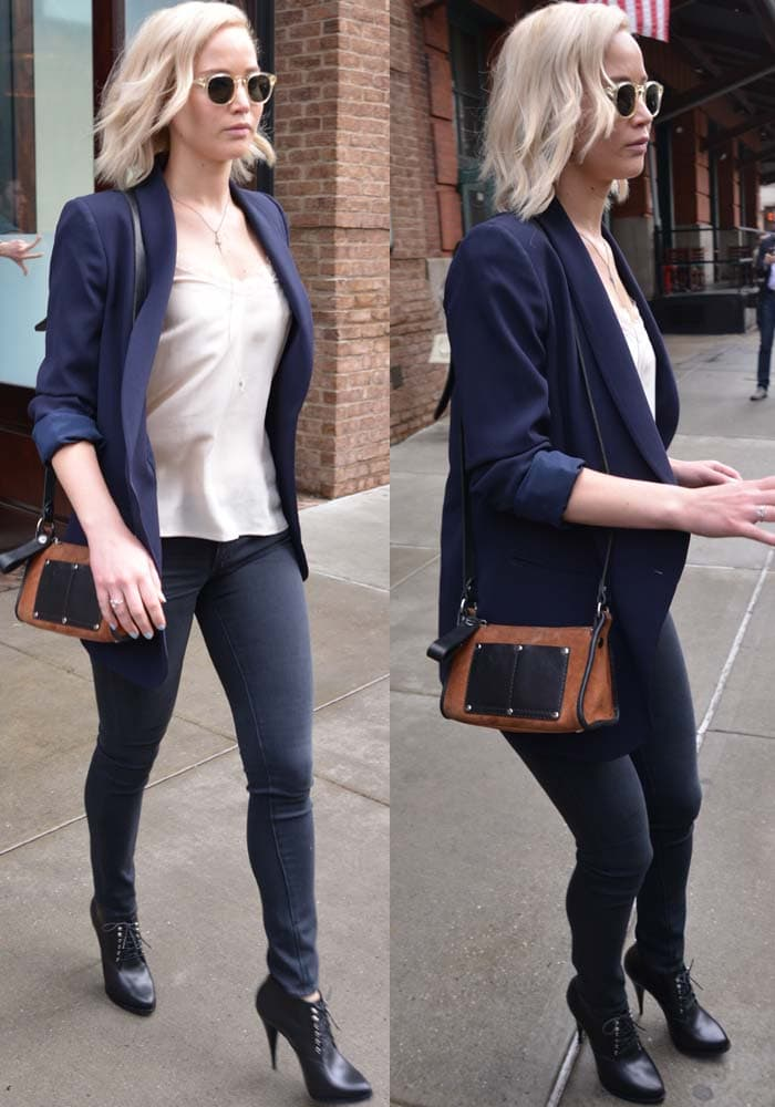 Jennifer Lawrence NYC Hotel Givenchy Boots 3