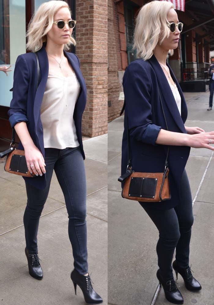 Jennifer Lawrence NYC Hotel Givenchy Boots 3