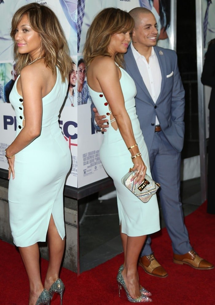 Jennifer Lopez and Casper Smart at the premiere of his latest film 'The Perfect Match'