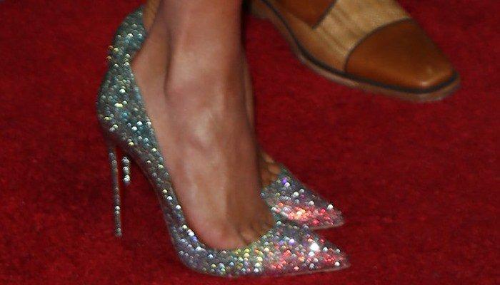 58c6c0f7d68 Jennifer Lopez Supports Boyfriend in 'Pigalle' Ombré Crystal Pumps