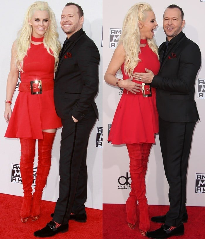 Do you remember the red Versace boots that Jenny McCarthy wore when posing with her husband Donnie Wahlberg on the red carpet?