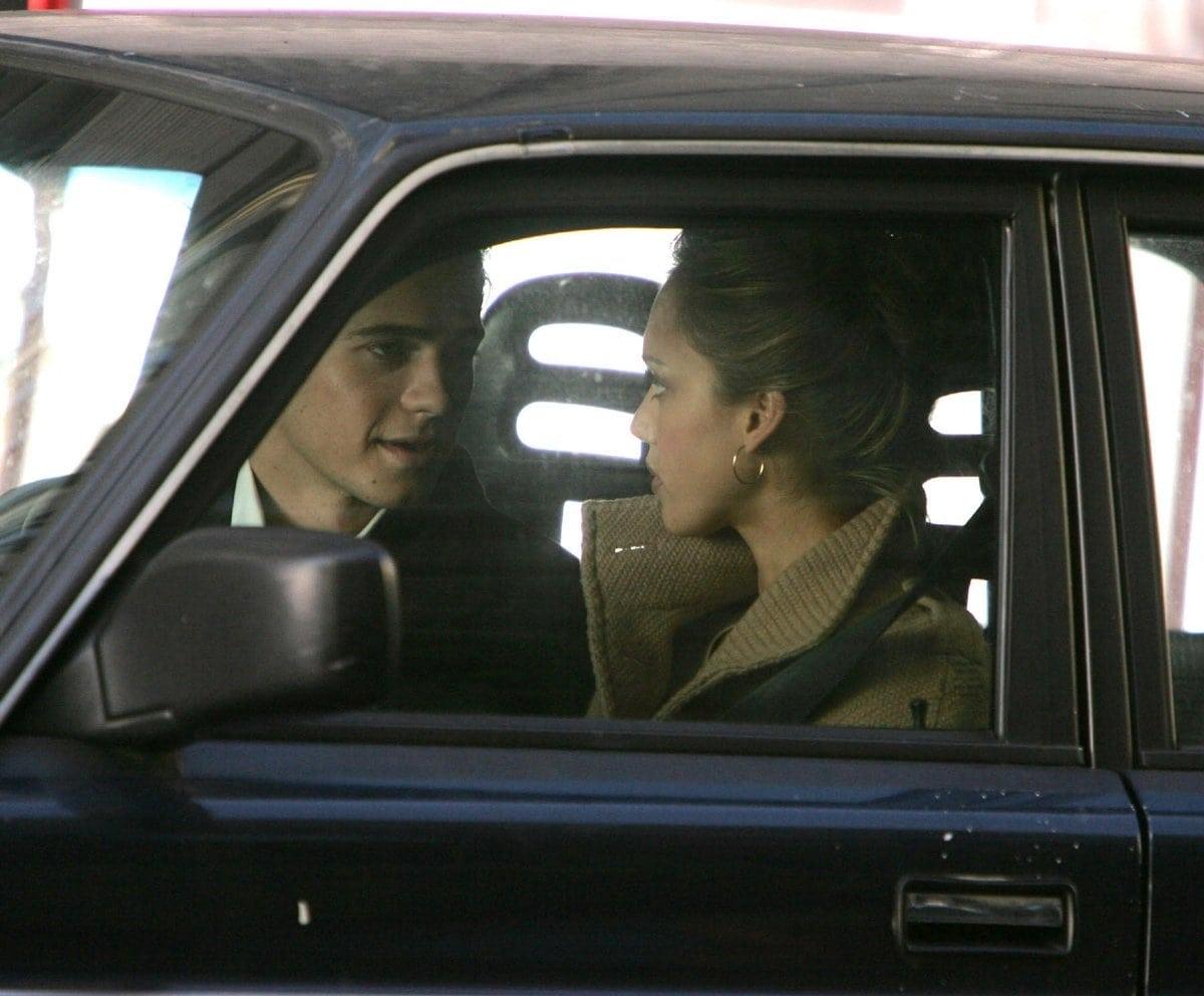 "Hayden Christensen as Clay Beresford, Jr. and Jessica Alba as Samantha ""Sam"" Lockwood/Tunnel filming the 2007 American conspiracy thriller film Awake"
