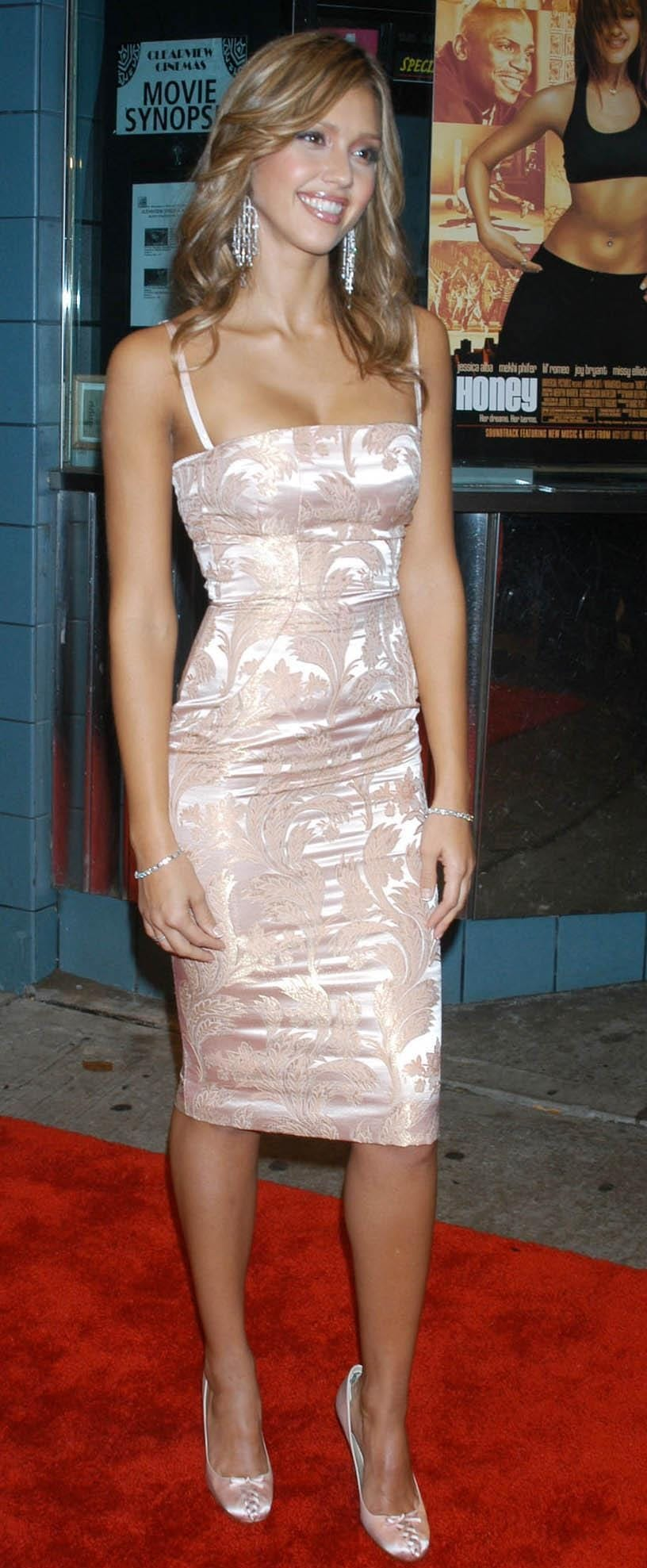 Jessica Alba at the premiere of Honey held at the Chelsea West Theater in New York City