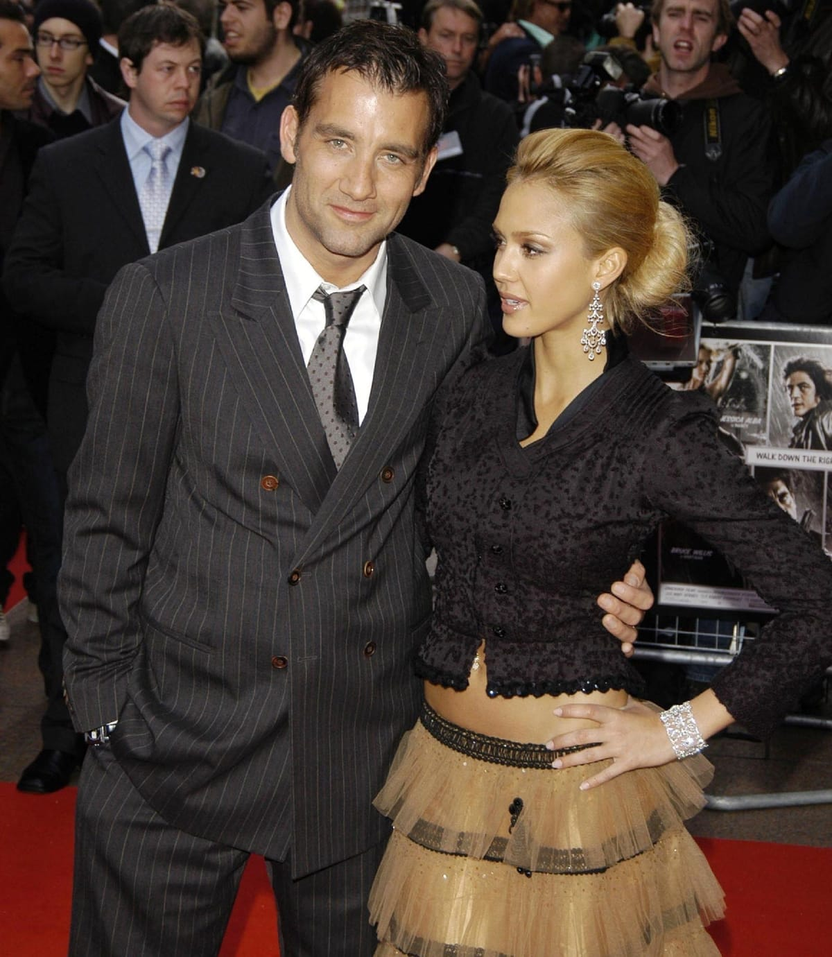 """Jessica Alba and Clive Owen arrive at the UK premiere of """"Sin City"""""""
