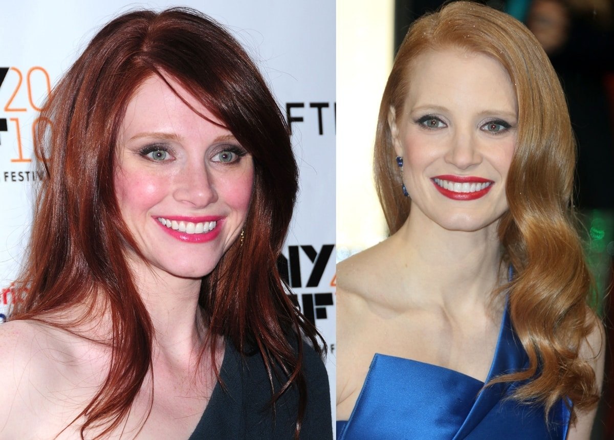 Jessica Chastain (R) is tired of being mistaken for Bryce Dallas Howard (L)