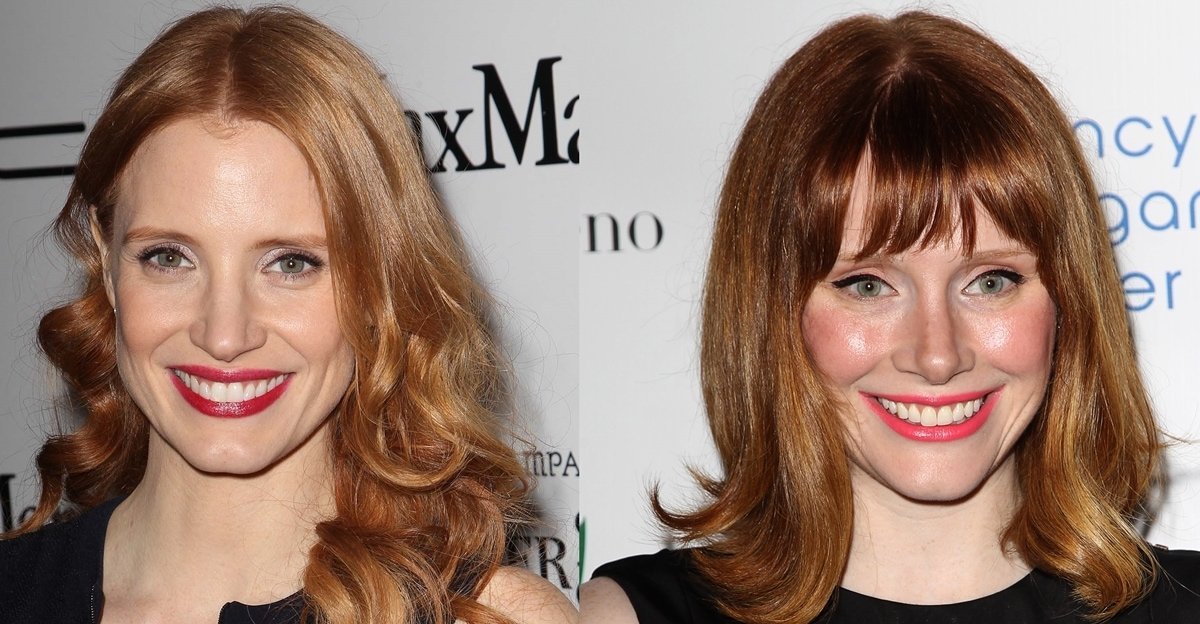 Lookalikes Jessica Chastain and Bryce Dallas Howard are not related
