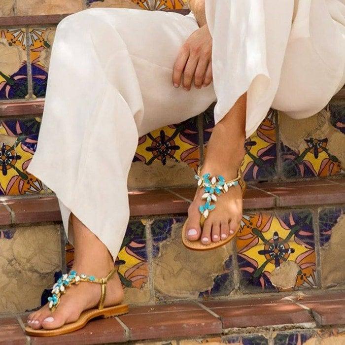 Jewel-Embellished Flats