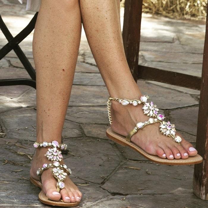 Jewel-Embellished Sandal