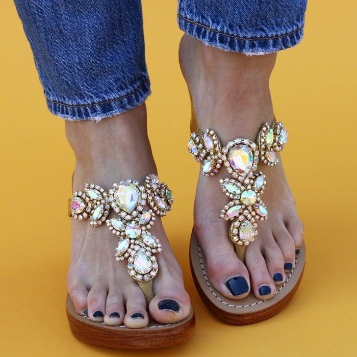Jewel-Embellished Sandals