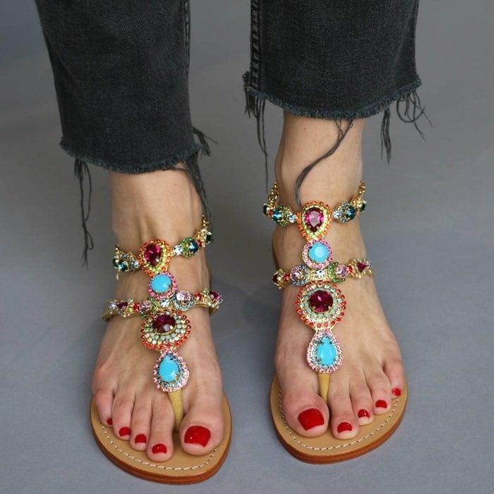 Mystique jeweled sandals
