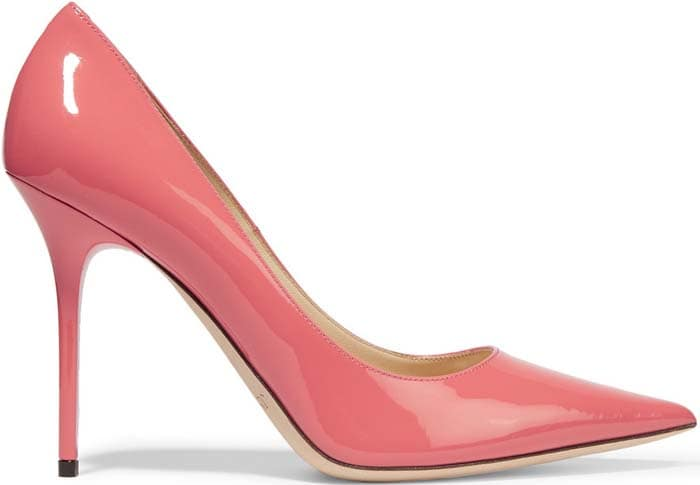 """Coral Jimmy Choo """"Abel"""" Patent-Leather Pumps"""