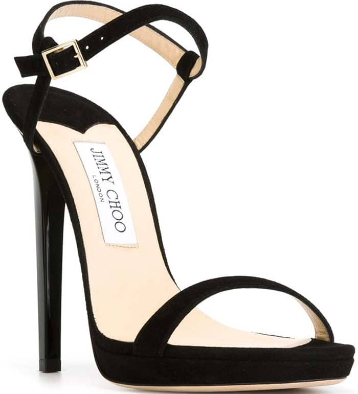 Jimmy Choo Claudette Sandals in Black Suede