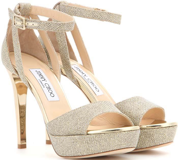 Jimmy Choo Kayden Glitter Sandals