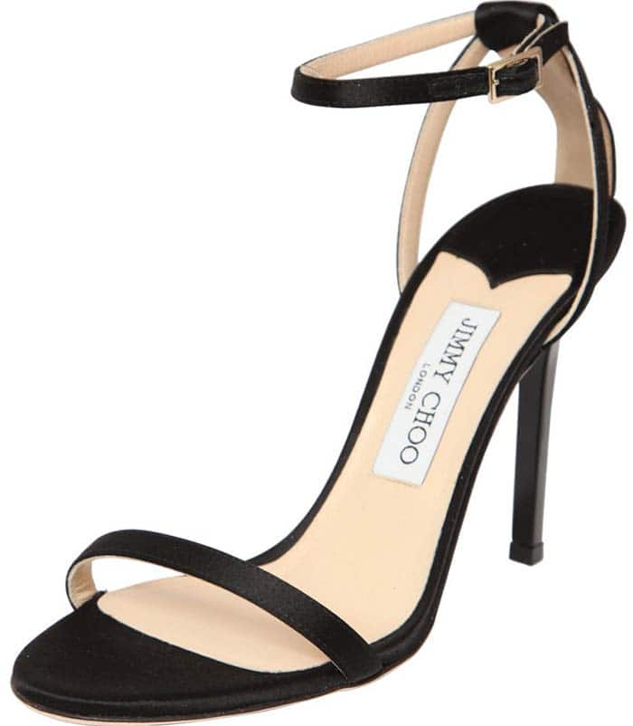 Jimmy Choo Minny Satin Sandals