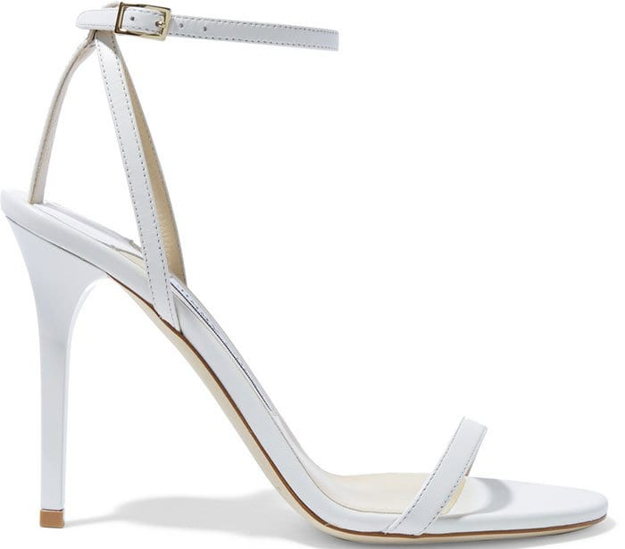 White Leather Jimmy Choo Minny Sandals