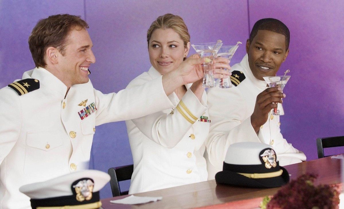 Josh Lucas, Jessica Biel, and Jamie Foxx in the 2005 American military science fiction action film Stealth