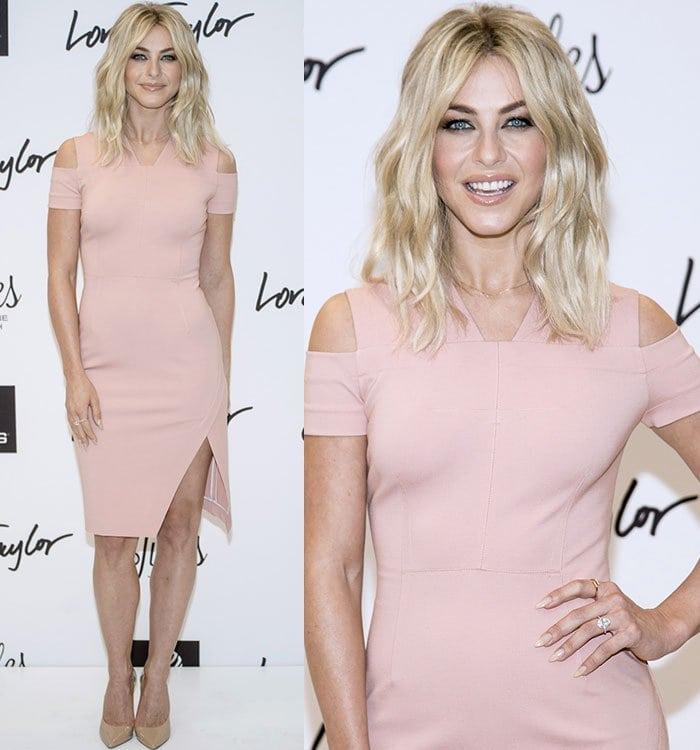 Julianne-Hough-Yigal-Azrouel-pale-pink-dress