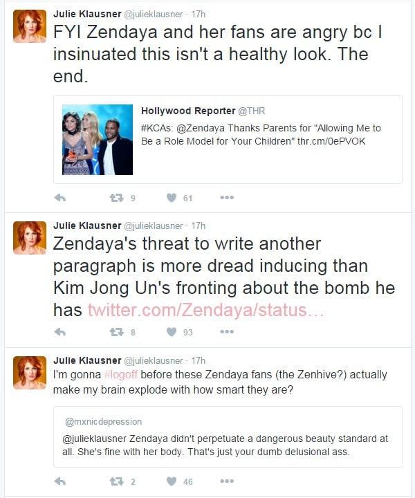 Julie Klausner tweet Zendaya 2