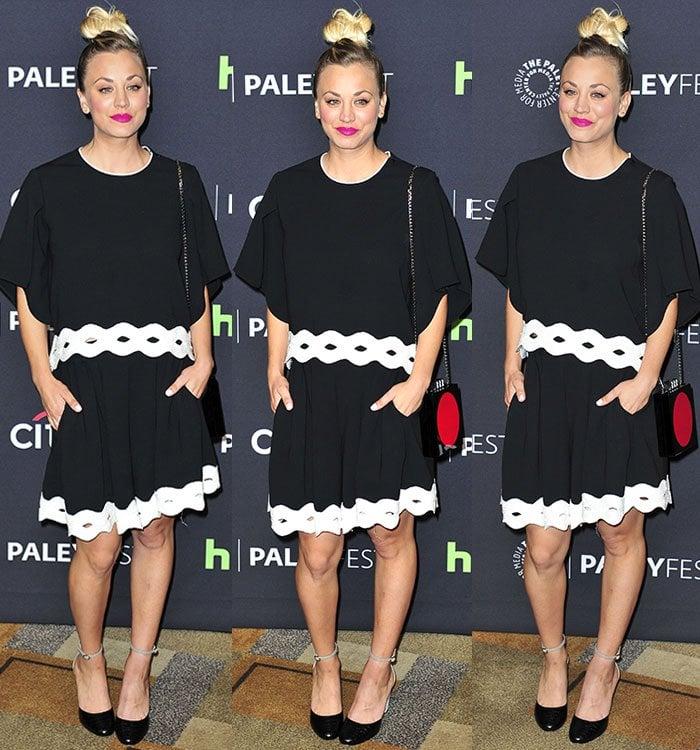 Kaley-Cuoco-Jonathan-Simkhai-black-white-dress