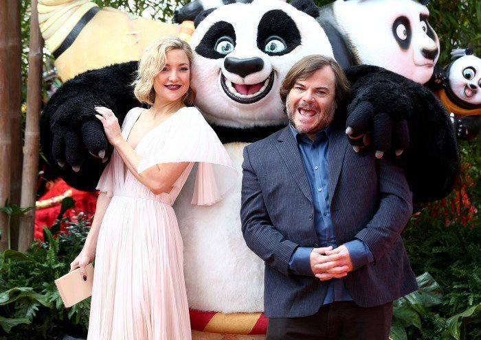 Kate hudson jack black kung fu panda 3 london premiere