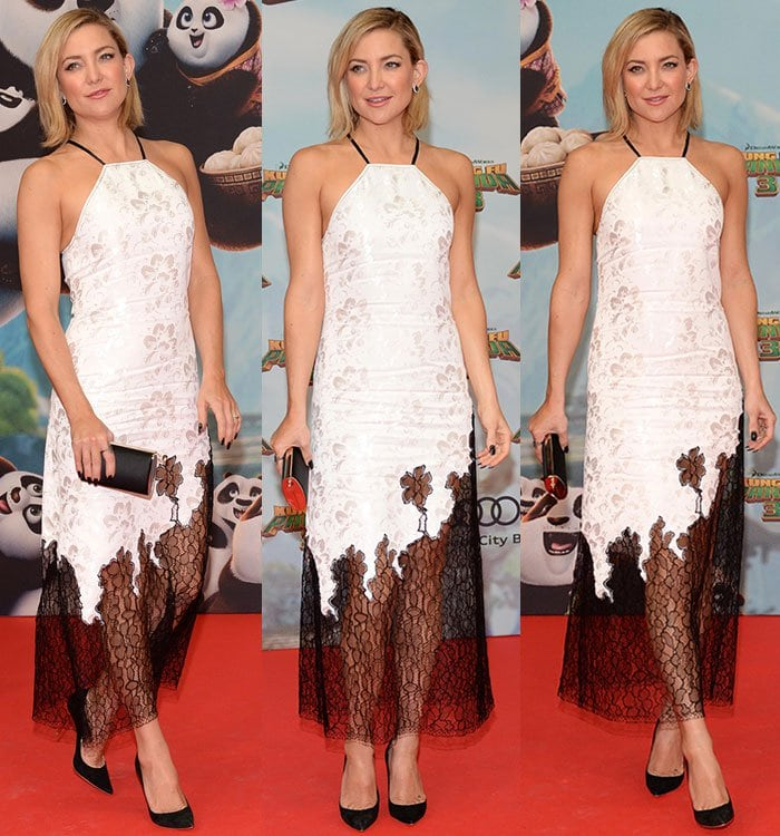 Kate-Hudson-white-black-lace-embroidered-dress