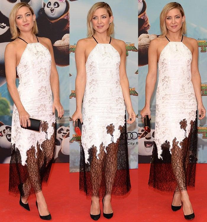 "Kate Hudson wears a Wes Gordon dress to the German premiere of ""Kung Fu Panda 3"""