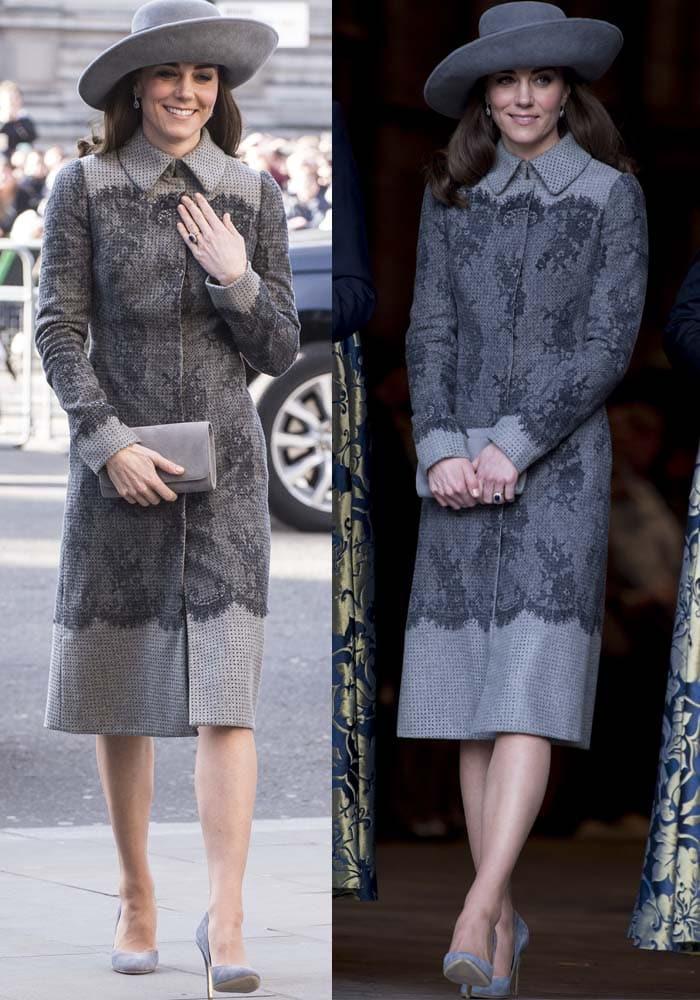 Kate Middleton Commonwealth Day Rupert Sanderson 2