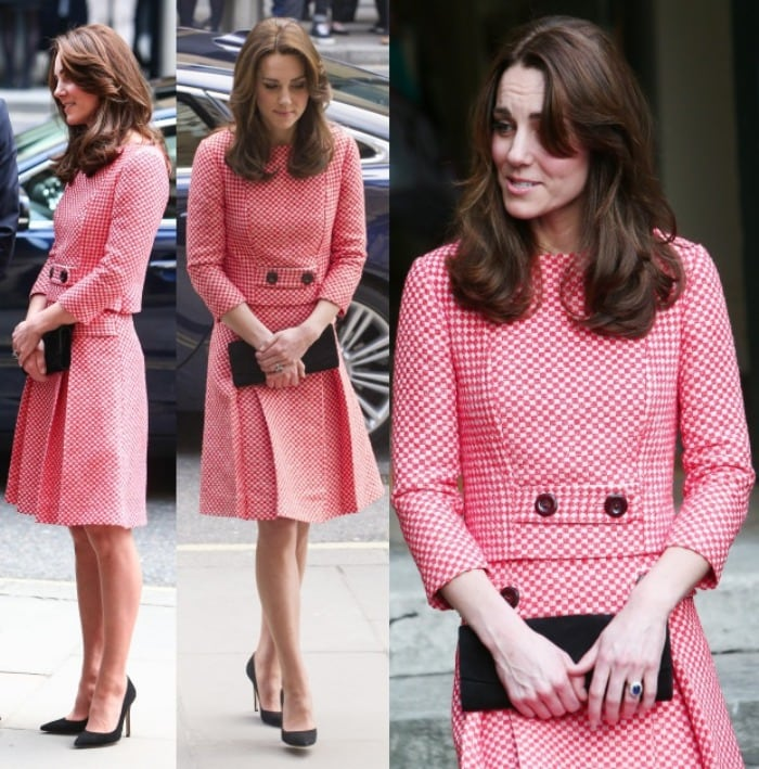Kate Middleton gingham dress mentoring london