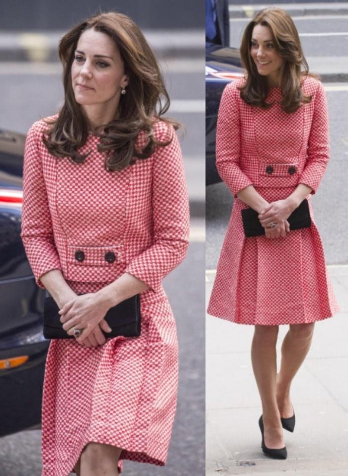 Kate Middleton london mentoring project gingham dress2