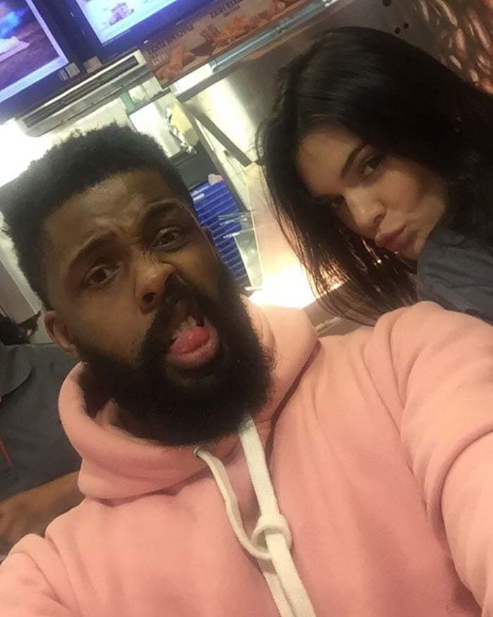 Kendall Jenner joined her good friend Leon Anderson for a Burger King
