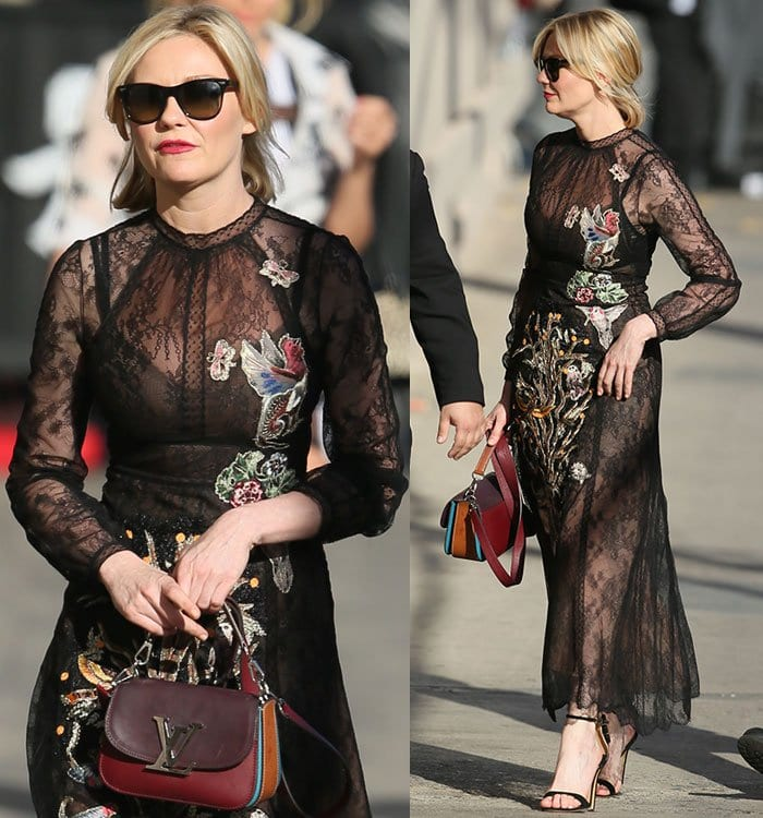 Kirsten-Dunst-Valentino-embroidered-lace-dress