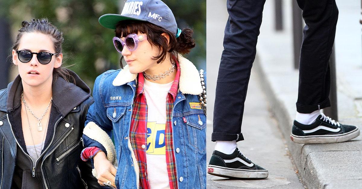 a87f587b9f Kristen Stewart With Rumored Girlfriend Soko in Vans Old Skool Sneakers