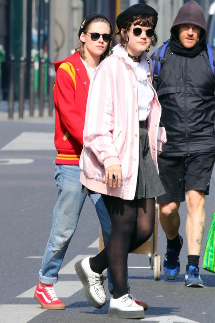 Kristen Stewart and Stephanie 'Soko' Sokolinski strolled around the streets of Paris