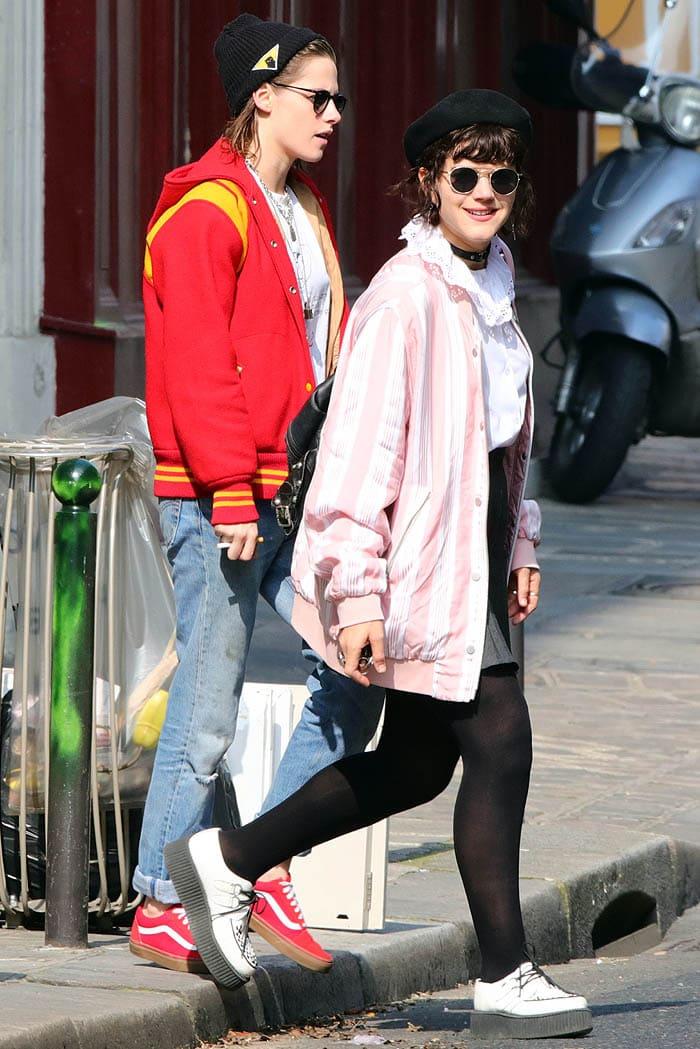 Kristen Stewart and rumored girlfriend Stephanie Sokolinski sporting brightly colored jackets