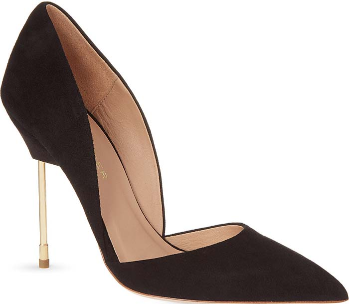 Kurt Geiger Bond Suede Stilettos Black